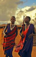 Masai Dancers by myist