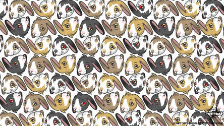 Crazy Rabbits Wallpaper by ChezTheDemon