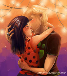 Miraculous - Marinette and Adrien by Mind3ll