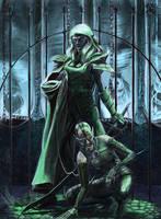 Drow Slaver and Hound by fuuryoku