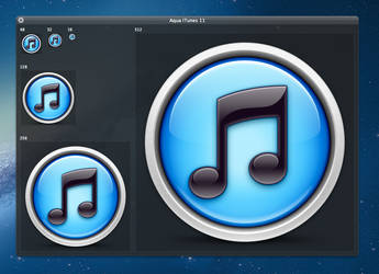 iTunes 11 Icon Replacement Concept by Lukeedee
