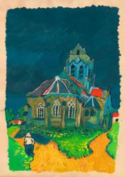 Fake Van Gogh: The Church At Auvers by Kekskiller