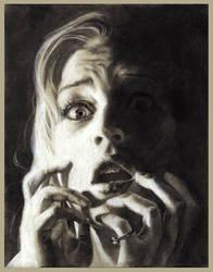 Self Portrait: Fear by dizzyclown