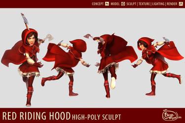 Red Riding Hood - 3D Modelsheet by dizzyclown
