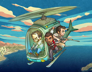 GTA V - Helicopter by dizzyclown