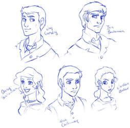 Great Gatsby Characters by dizzyclown