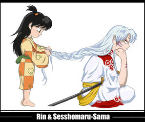 Rin and Sesshomaru-Sama by ShockMeAgain
