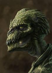 Reptilian Face by mawelman