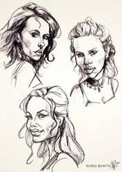 Celeb sketches 02 by mawelman