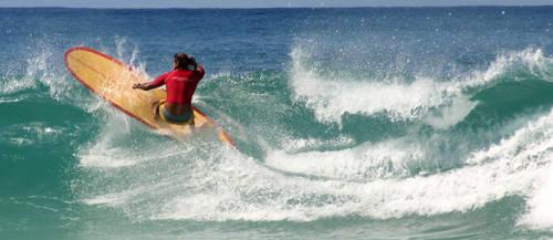 Longboard vs. Long wave by darthhybrid