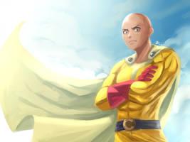 Saitama -One Punch Man semi-realistic by Rosuke97