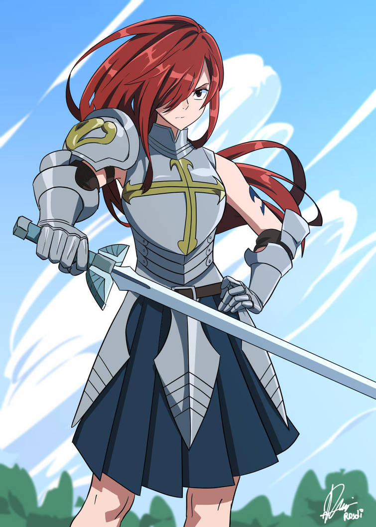 Commission- Erza Scarlet by Rosuke97