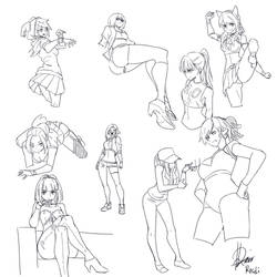 Poses practice by Rosuke97