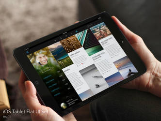 Ios Tablet Flat UI Set Small by RosscoMT