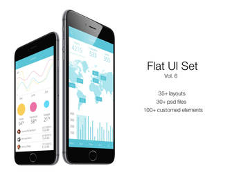 Flat Ui Set Vol.6  by RosscoMT