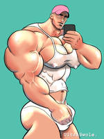 Beefy Wet T-Shirt Selfie by UltraSwole