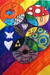 colorful circles by gummybear818