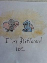 Dumbo and Stitch  by gummybear818