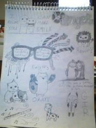 page of my doodles by gummybear818