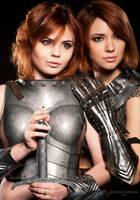 Girls in armour by fenixfatalist