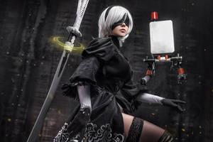 Nier Automata - 2b cosplay by fenixfatalist