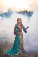 Witcher Wild Hunt - Triss Merigold DLC Dress by fenixfatalist