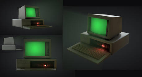 ''Newell'' Old office PC - game ready asset by kaos88888888