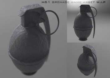 M61 w.i.p. grenade (highpoly) by kaos88888888