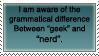 Geek-Nerd stamp by sinsorrow