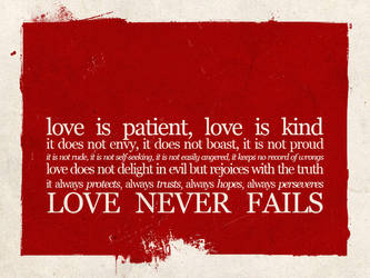 love never fails by iwannabreathe