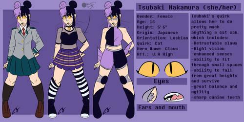BNHA OC: Tsubaki Nakamura by Sheepaleepz