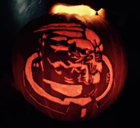 Garrus Pumpkin by BookWorm14