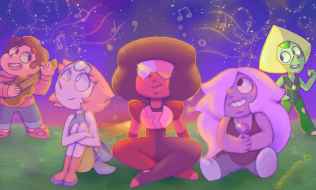 Aah this song was just as awesome and catchy as Something entirely new! I can't wait for tomorrow I bet Malachite is pretty jealous of Peridot right now xD It was cool how everyone was in one ...