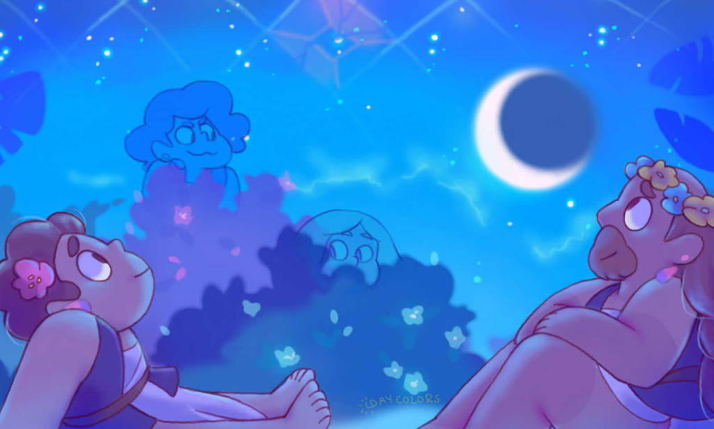 It's hard to tell a diamond is coming from in there! Aah the scenery was really good and the zoomans were really cute! I've been watching a lot of sailor moon, I'm not sure if that's possibly why I...