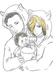 Family love cat by ILITIAFOREVER