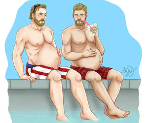 COMMISSION thor and steve mpreg by ILITIAFOREVER