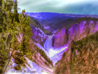 Lower Falls Yellowstone National ParkWyoming by MSchmidtProductions