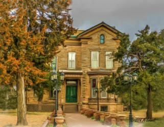 Arthur Larkin House Ellsworth Kansas Painting by MSchmidtProductions