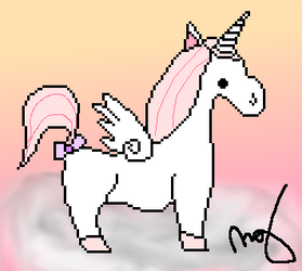 Pixel unicorn by marionerdbuskus