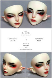 Elf Twins Faceup commission by Puffsan