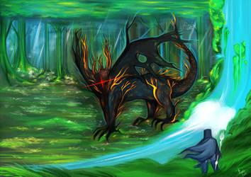 Kalameet , the black dragon by Tori-Fan