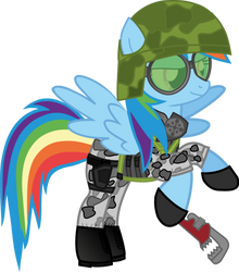 Corporal Rainbow Dash of the HECU (Version 2) by HiveLordLusa
