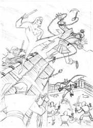 Batman and Nightwing by cretineb