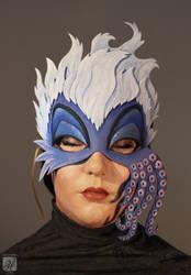 Ursula Mask Commission by dragonhope