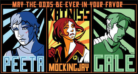 Hunger Games Triptych by witching-hour