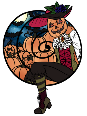 Drawtober day 1 - Pumpkin head by SkullBooty