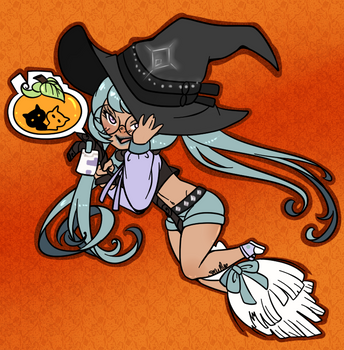Halloween witch by SkullBooty
