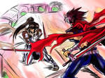 Hiryu vs hien PS paint illustration by Penzoom
