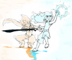 Blue And Orange by Eli-len