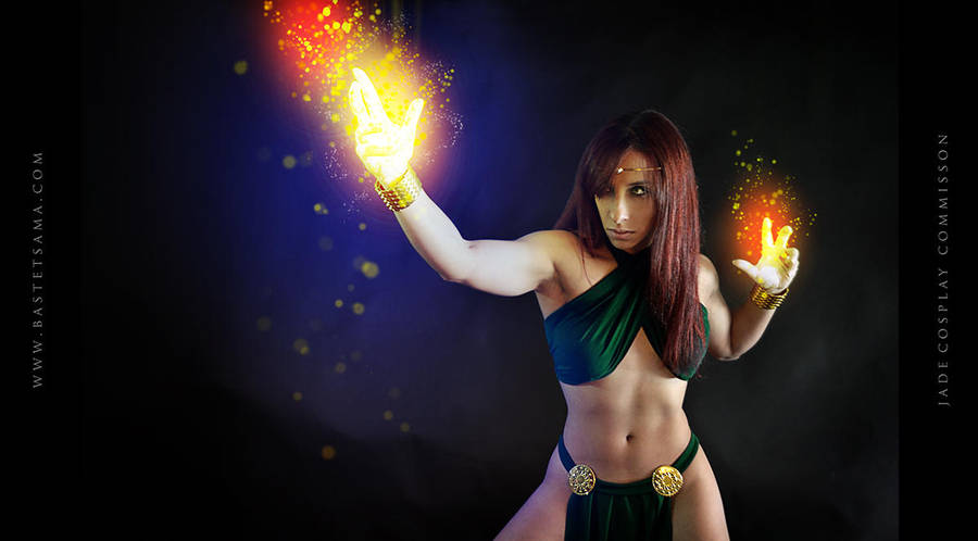Jade Wizard Cosplay Commission 02 by Bastetsama-Cosplay